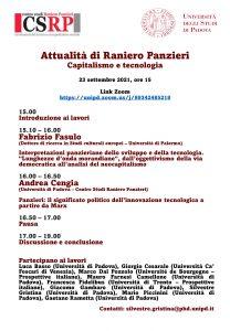 Attualità di Raniero Panzieri. Capitalismo e tecnologia